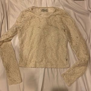 cropped lace long sleeve